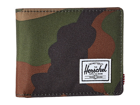 Herschel Supply Co. Hank RFID - Woodland Camo/Tan Synthetic Leather