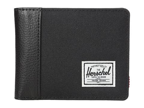 Herschel Supply Co. Edward RFID - Black/Black Synthetic Leather