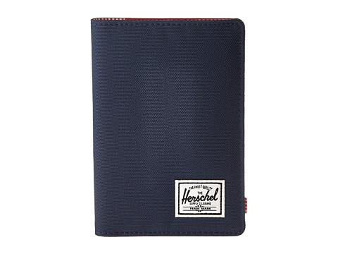 Herschel Supply Co. Raynor Passport Holder RFID - Navy/Red