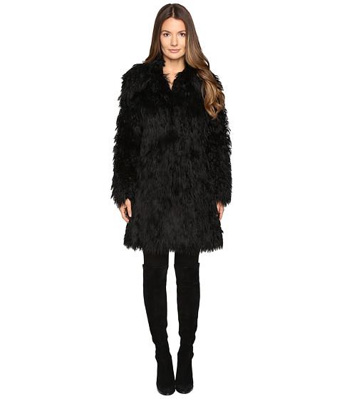 Jeremy Scott Faux Mongolia Long Coat - Black