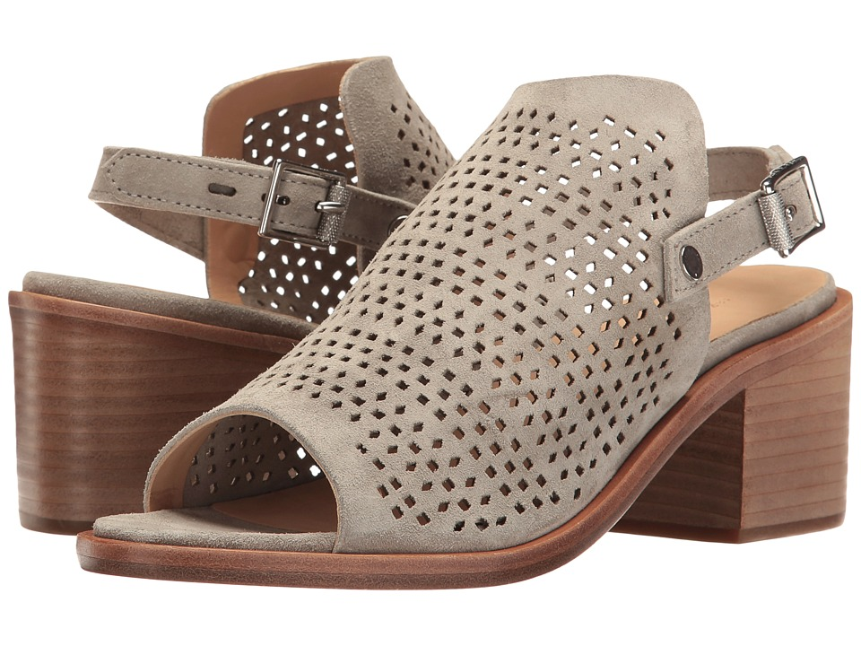 rag & bone Wyatt Mid Heel (Cemento Suede Perforated) High Heels