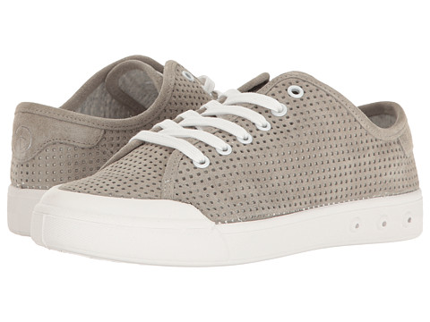 rag & bone Standard Issue Lace-Up - Cemento Suede Perforated