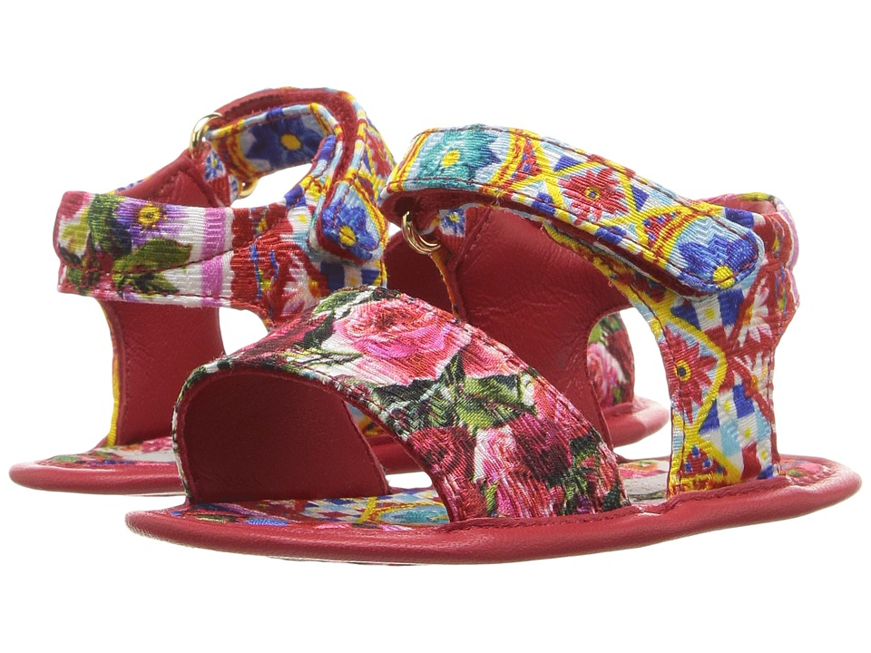 Dolce & Gabbana Kids Mambo Broccade Sandal (Infant/Toddler) (Carretto Print) Girls Shoes
