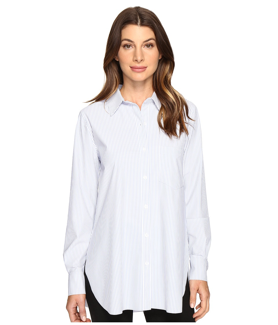 Lysse Schiffer Stretch Microfiber Button Down (Stripe) Women