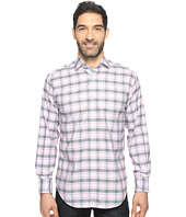 Thomas Dean & Co. - Long Sleeve Twill Plaid Sport Shirt