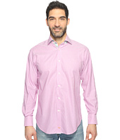 Thomas Dean & Co. - Long Sleeve Poplin Check Sport Shirt