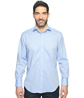 Thomas Dean & Co. - Long Sleeve Textured Mini Check Sport Shirt
