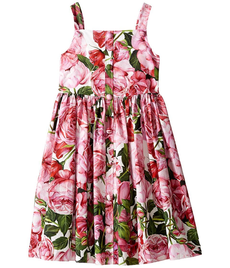 Dolce & Gabbana Kids - Rose Poplin Pleated Dress