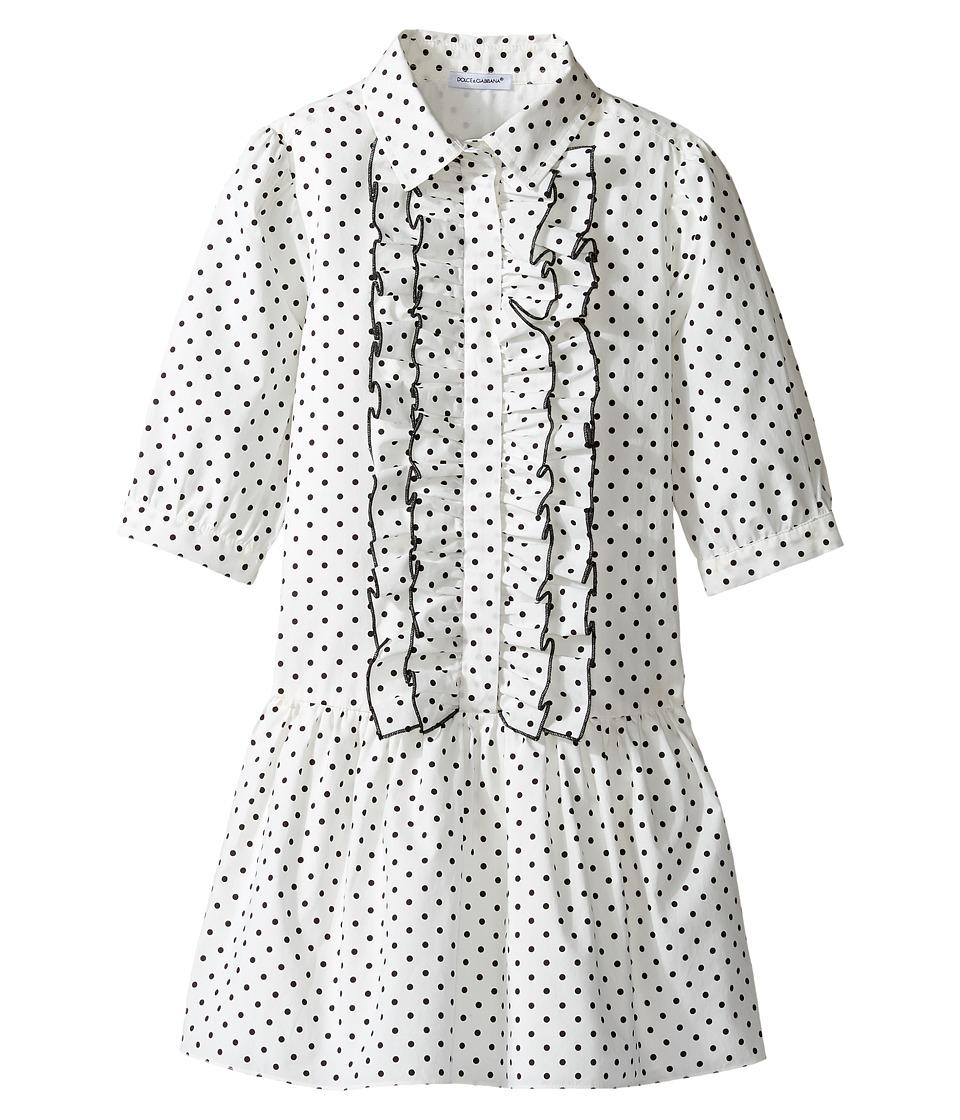 Dolce & Gabbana Kids - Tropical City Long Sleeve Dress (T...