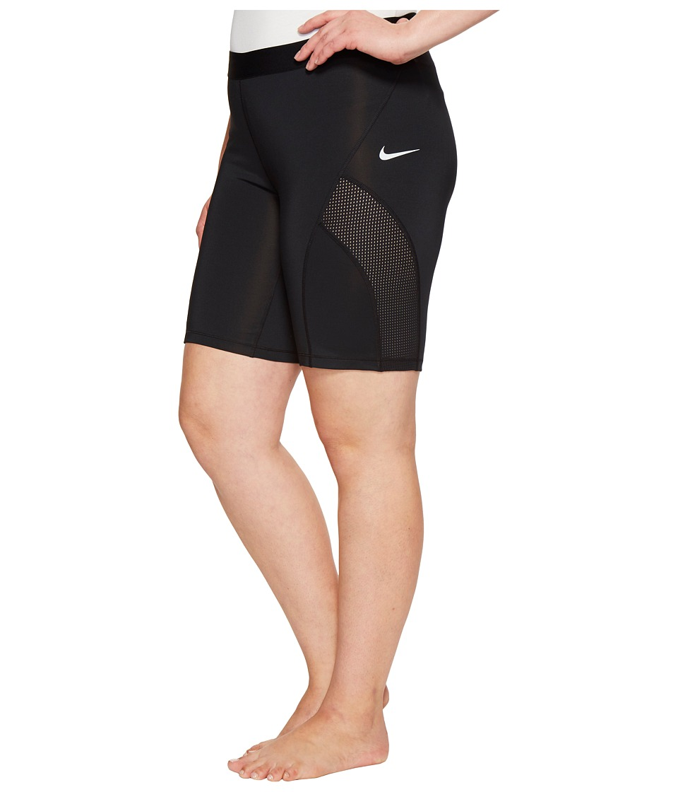 Nike Pro Hypercool Training Short (Size 1X-3X) (Black/Pure Platinum) Women