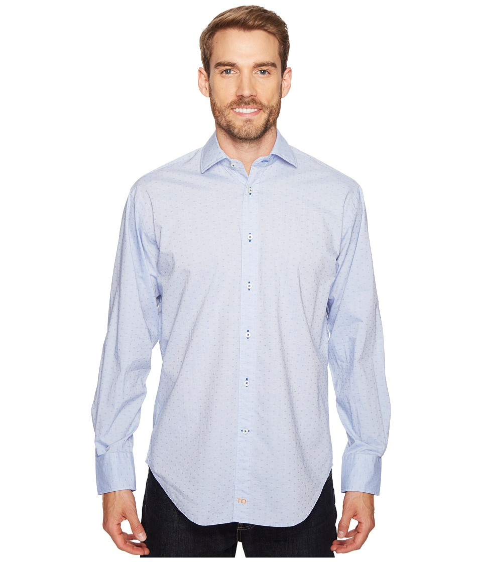 Thomas Dean & Co. - Long Sleeve Textured Solid Sport Shirt