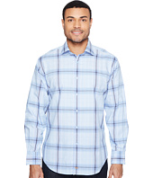 Thomas Dean & Co. - Long Sleeve Jacquard Plaid Sport Shirt