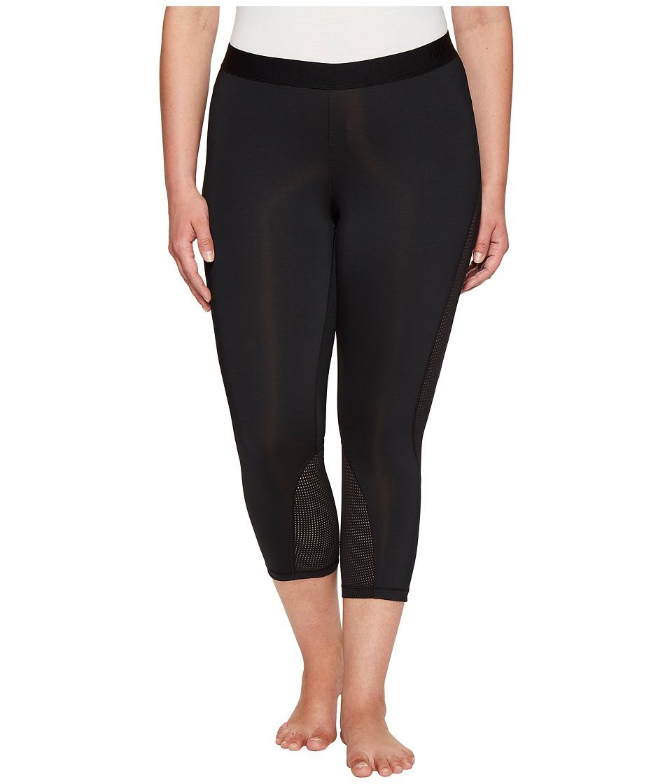 Nike - Pro Hypercool Training Capri (Size 1X-3X) (Black/Pure Platinum) Women's Capri