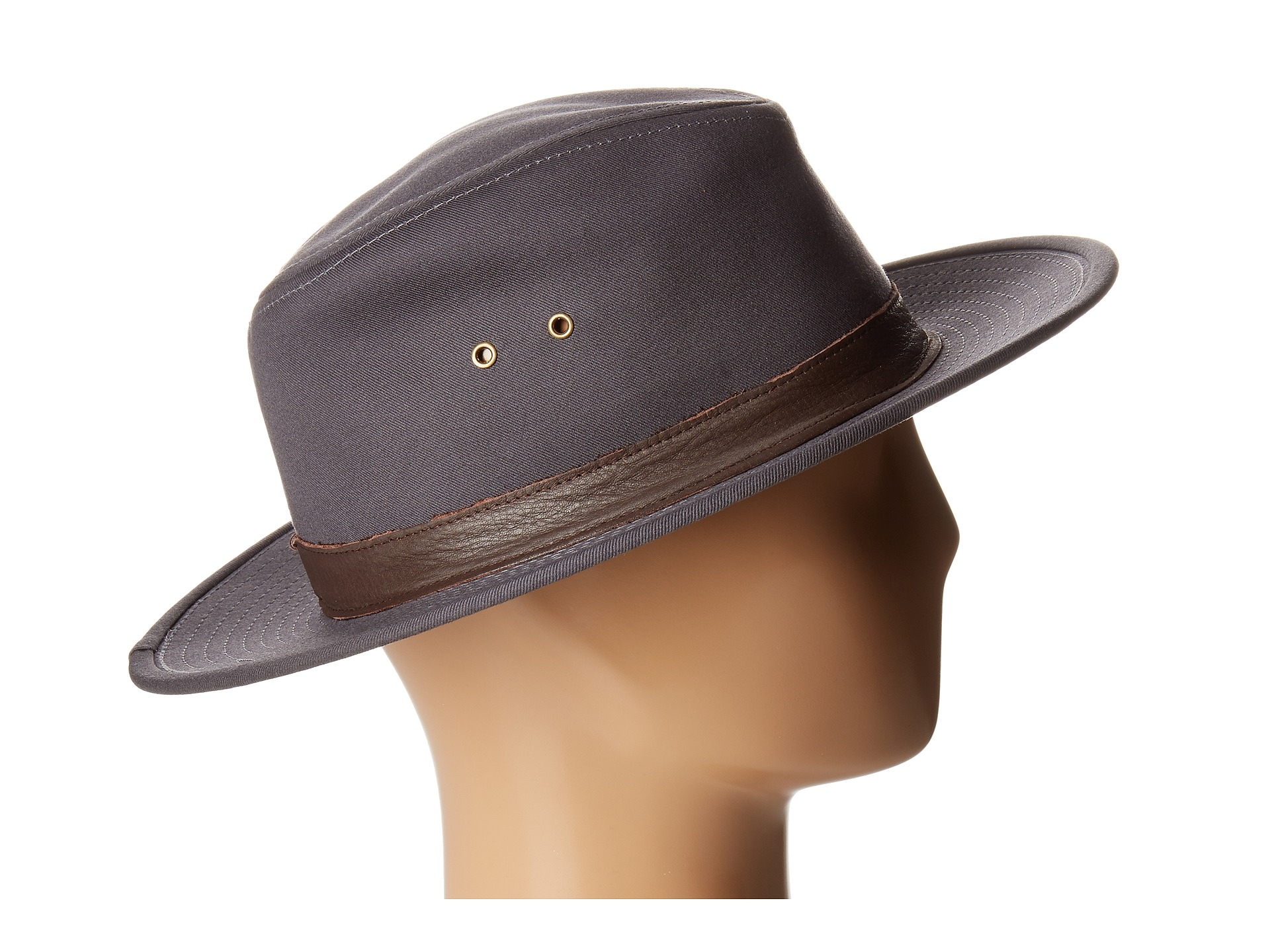Gray fedora hat for women