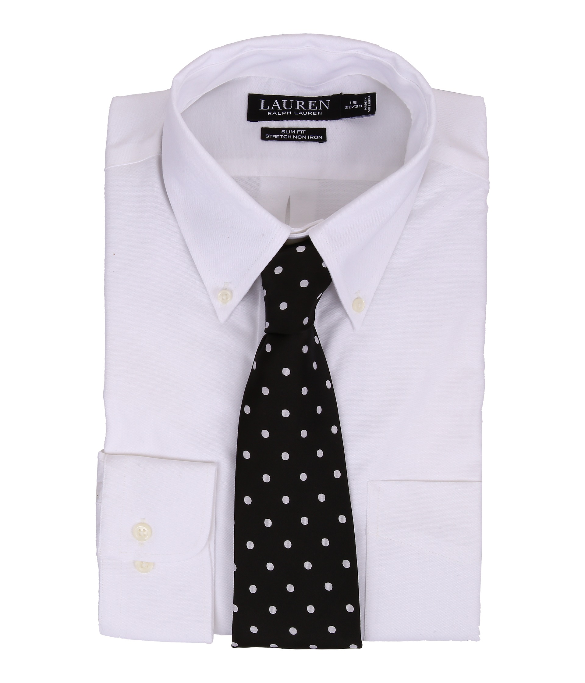 Lauren ralph lauren slim fit stretch pinpoint non iron for Pinpoint button down dress shirt