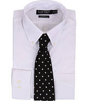 LAUREN Ralph Lauren - Slim Fit Stretch Pinpoint Non Iron Button Down Dress Shirt