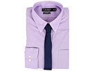 LAUREN Ralph Lauren Slim Fit Stretch Non Iron Pinpoint Button Down Dress Shirt
