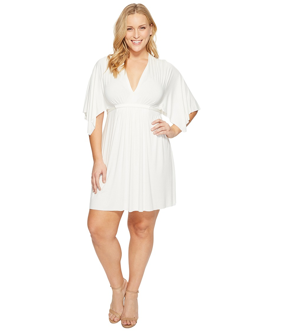 Rachel Pally Plus Size Mini Caftan Dress (White) Women