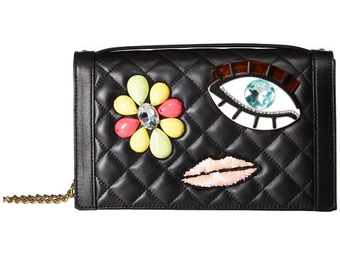 Boutique Moschino Embellished Brooch Shoulder Bag