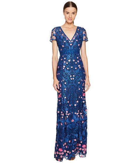 Marchesa Notte A-Line Guipure Lace Gown
