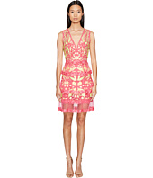 Marchesa Notte - Sleeveless Cocktail w/ Guipure Lace Tiered Skirt