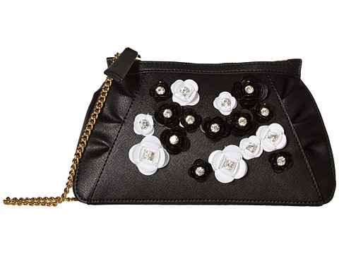 Boutique Moschino Embellished Floral Clutch with Chain
