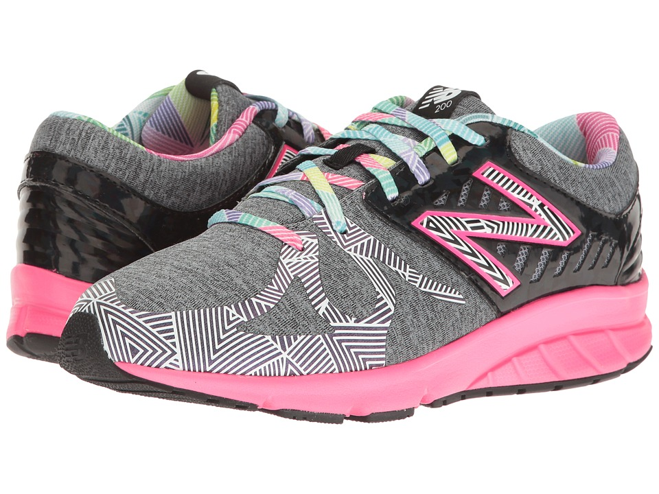 New Balance Kids Electric Rainbow 200 (Big Kid) (Black/Multi) Girl