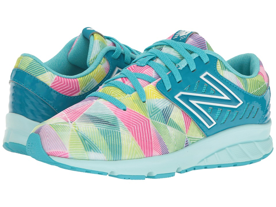 New Balance Kids Electric Rainbow 200 (Big Kid) (Blue/Multi) Girl