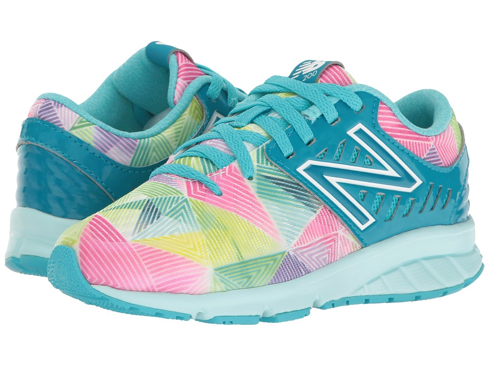 New Balance Kids Electric Rainbow 200 (Little Kid) (Blue/Multi) Girl