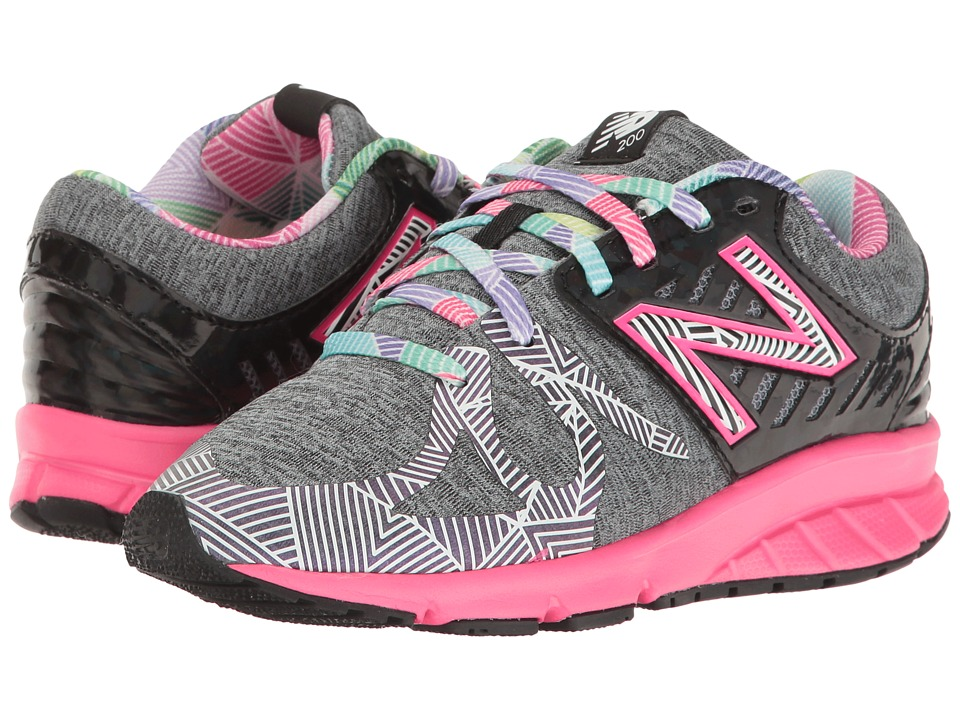 New Balance Kids Electric Rainbow 200 (Little Kid) (Black/Multi) Girl