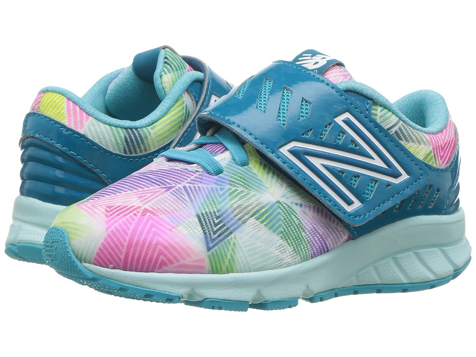 New Balance Kids Electric Rainbow 200 HL (Little Kid) (Blue/Multi) Girl