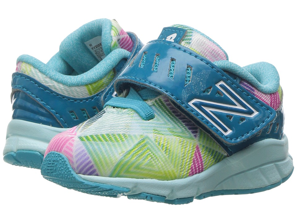 New Balance Kids Electric Rainbow 200 HL (Infant/Toddler) (Blue/Multi) Girls Shoes