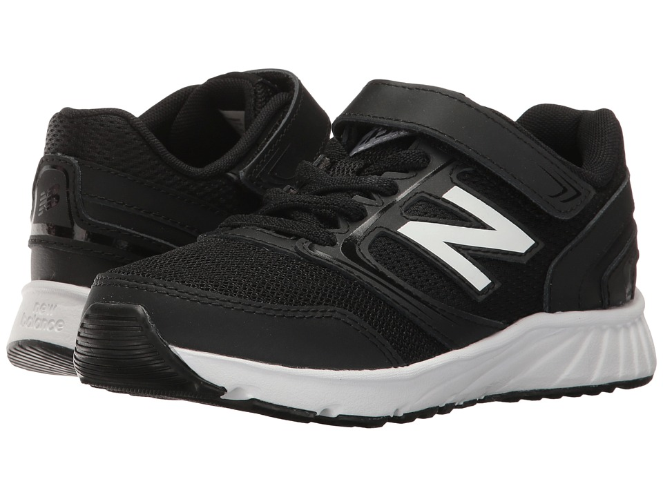 New Balance Kids KA455v1 (Little Kid/Big Kid) (Black/White) Boy's Shoes