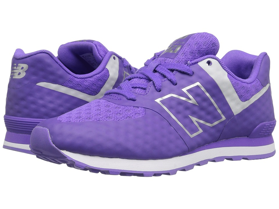 New Balance Kids Breathe 574 (Big Kid) (Purple/Grey) Girl