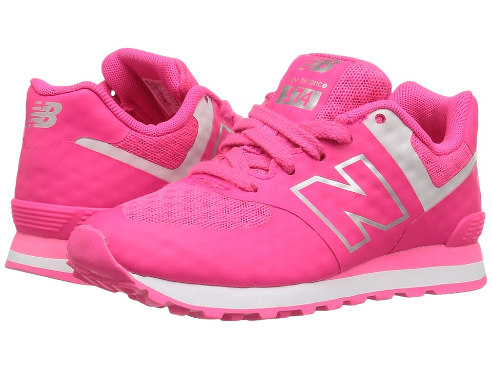 New Balance Kids 574 Breathe (Little Kid) (Pink/Grey) Girl