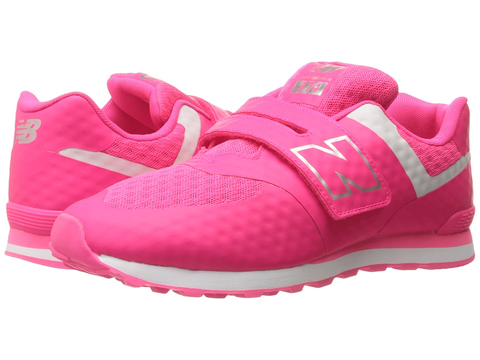 New Balance Kids 574 Breathe HL (Little Kid/Big Kid) (Pink/Grey) Girls Shoes