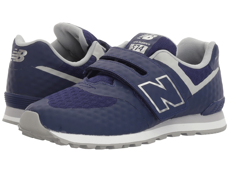 New Balance Kids 574 Breathe HL (Little Kid/Big Kid) (Blue/Grey) Boys Shoes