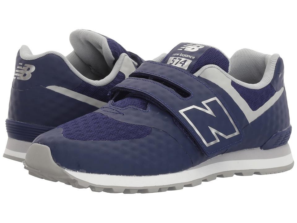 New Balance Kids 574 Breathe HL (Little Kid/Big Kid) (Blue/Grey) Boys Shoes