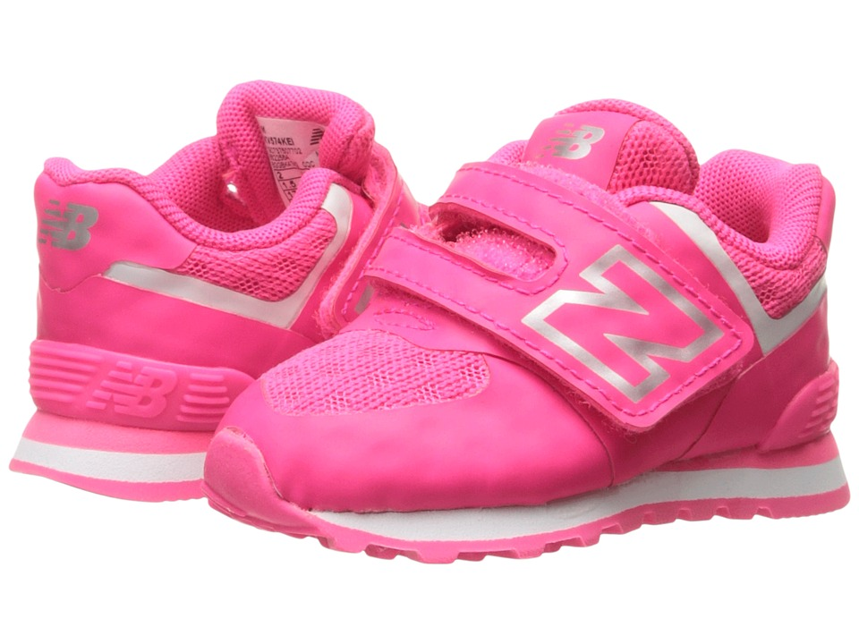 New Balance Kids 574 Breathe HL (Infant/Toddler) (Pink/Grey) Girls Shoes