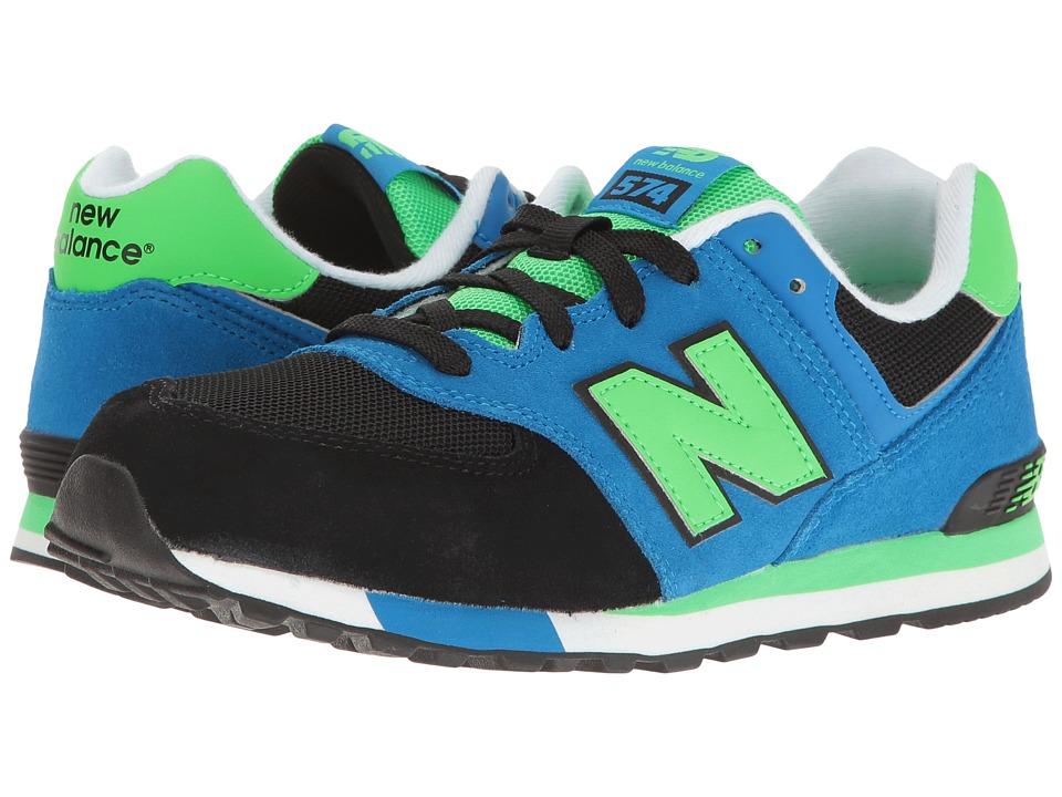 New Balance Kids KL574v1 (Big Kid) (Black/Blue) Boys Shoes