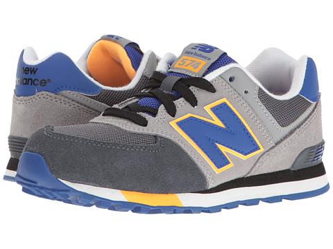 New Balance Kids KL574v1 (Big Kid) - Grey/Blue