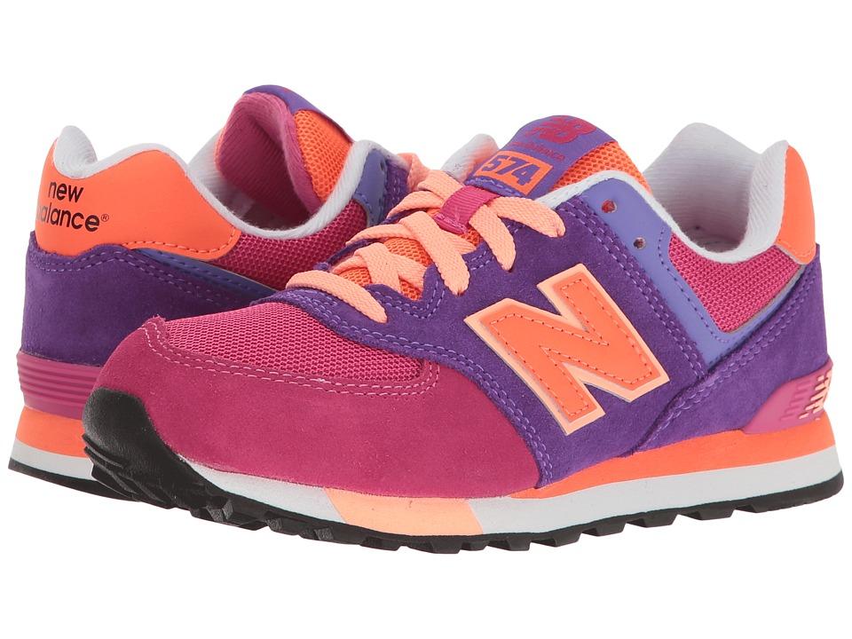 New Balance Kids - KL574v1 (Little Kid) (Pink/Purple) Girls Shoes