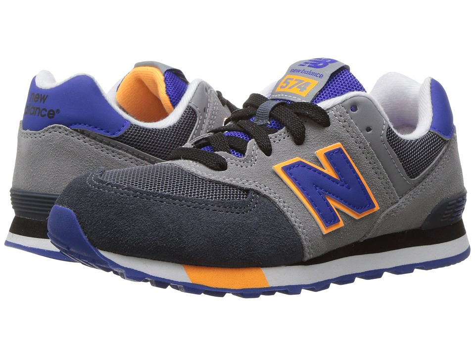 New Balance Kids KL574v1 (Little Kid) (Grey/Blue) Boys Shoes