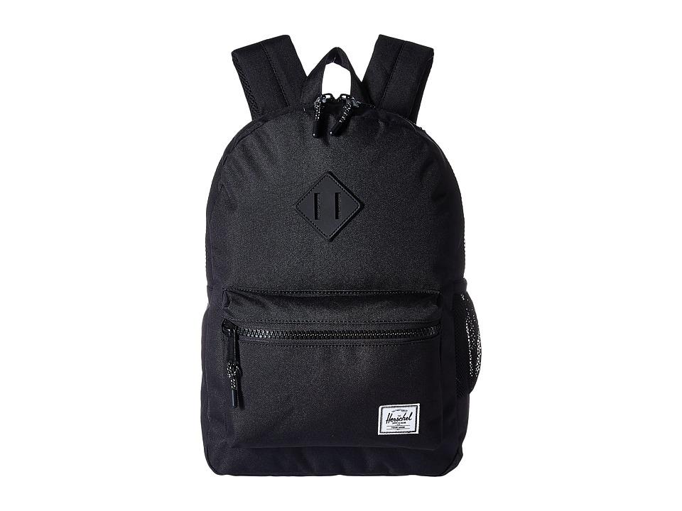 Herschel Supply Co. Heritage Youth (Big Kids) (Black/Black Rubber) Backpack Bags