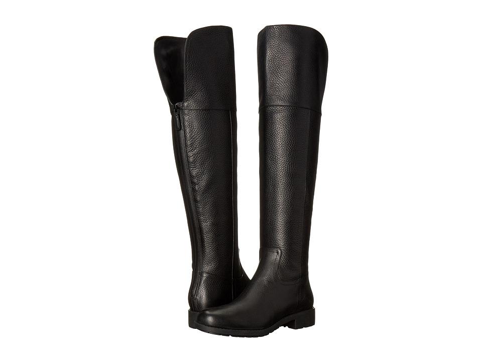 Cole Haan Pretiss Over The Knee Waterproof Boot (Black Leather) Women