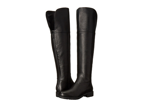 Cole Haan Pretiss Over The Knee Waterproof Boot - Black Leather
