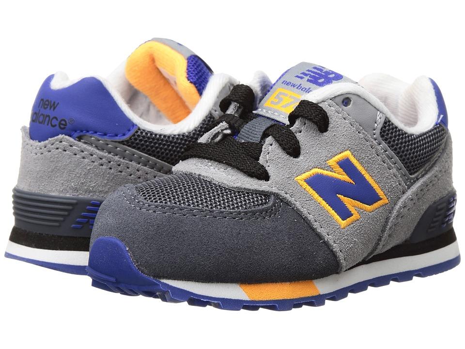 New Balance Kids KL574v1 (Infant/Toddler) (Grey/Blue) Boys Shoes
