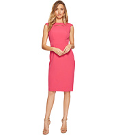 Tahari by ASL - Neck Cut Out Cap Sleeve Sheath