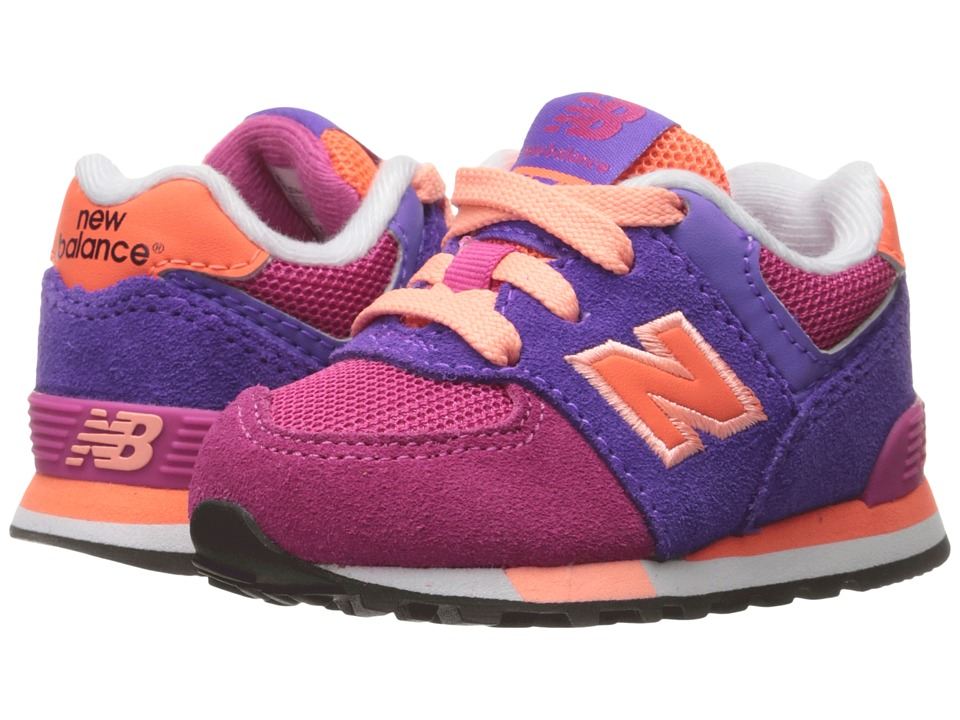 New Balance Kids KL574v1 (Infant/Toddler) (Pink/Purple) Girls Shoes