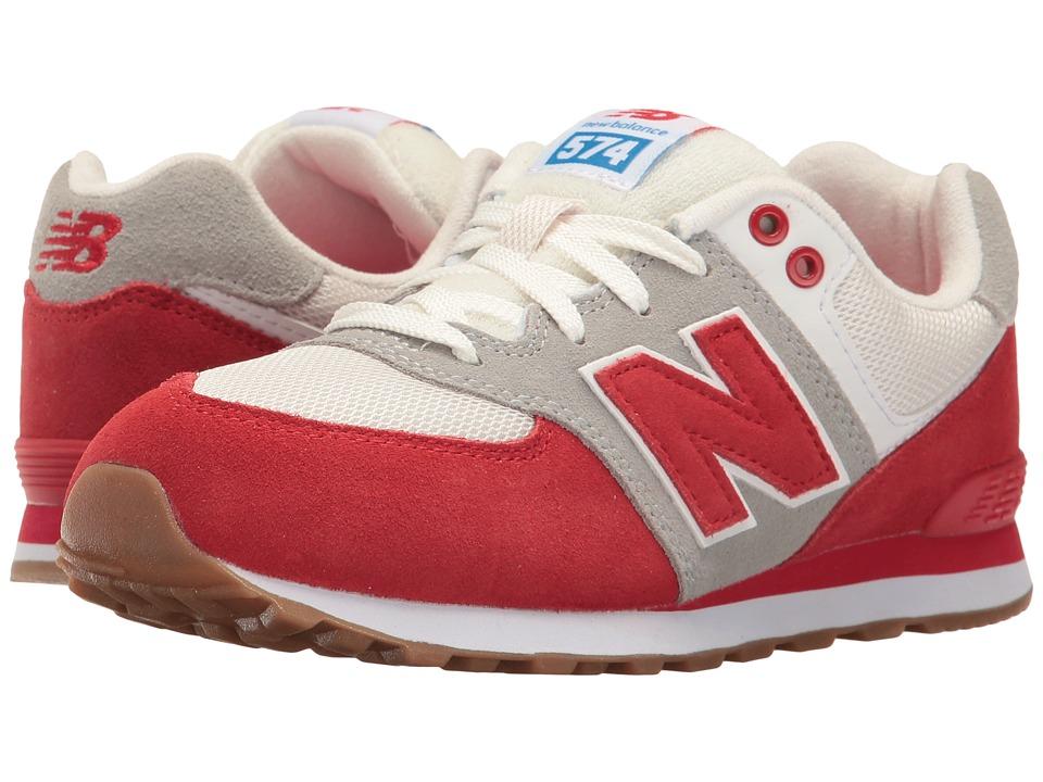 New Balance Kids KL574v1 (Big Kid) (Red/White) Boys Shoes